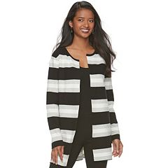 Women's ELLE™ Striped Long Cardigan