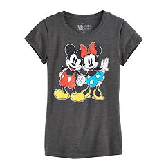 Disney's Mickey Mouse & Minnie Mouse Hand Hold Graphic Tee