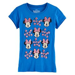Disney's Minnie Mouse Girls 7-16 Glitter Bows Graphic Tee