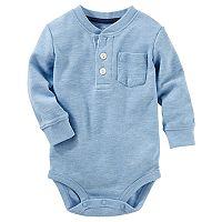 Baby Boy OshKosh B'gosh® Thermal Henley Bodysuit