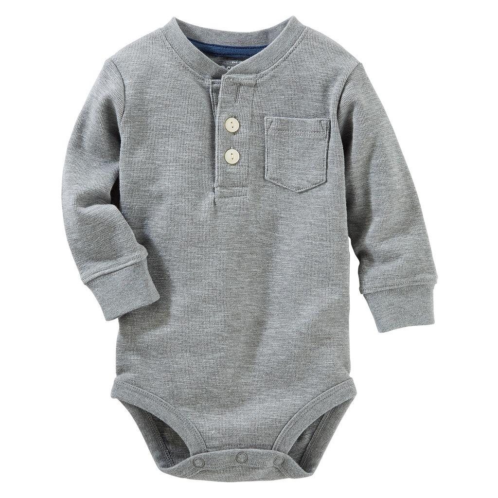 Baby Boy OshKosh B'gosh® Thermal Henley Bodysuit