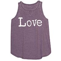 Girls 7-16 Harper & Elliott Keyhole Graphic Tank Top