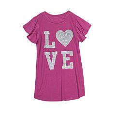 Girls 7-16 & Plus Size Harper & Elliott Ruffle Sleeve Graphic Tee