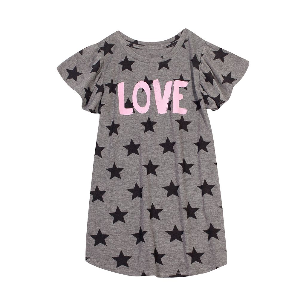 Girls 7-16 & Plus Size Harper & Elliott Ruffle Sleeve Graphic Tee