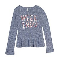 Girls 7-16 & Plus Size Harper & Elliott Peplum Graphic Tee