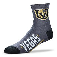 Adult For Bare Feet Vegas Golden Knights Team Color Quarter-Crew Socks