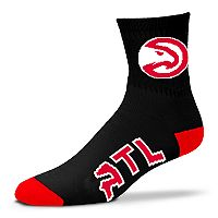 Adult For Bare Feet Atlanta Hawks Team Color Quarter-Crew Socks