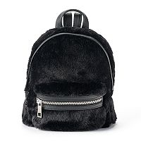 madden NYC Faux Fur Mini Dome Backpack