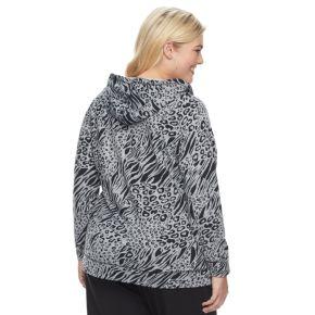 Plus Size Cathy Daniels Animal Print Hoodie