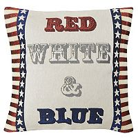 Spencer Home Decor Americana ''Red, White, & Blue'' Throw Pillow
