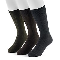 Men's Dockers 3-pack Classic Ribbed Crew Socks
