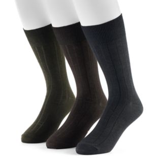 Men's Dockers 3-pack Classic Ribbed Crew Socks