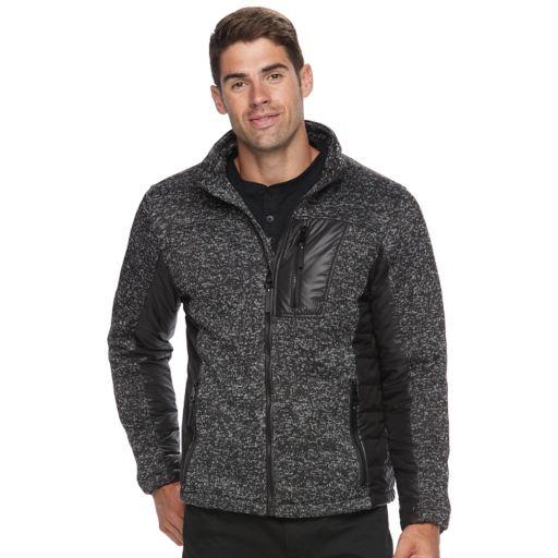 Men's Urban Republic Melange Modern-Fit  Fleece Knit Jacket