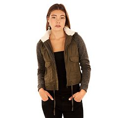 Juniors' Wallflower Sherpa Hood Utility Jacket