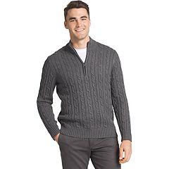 Men's IZOD Regular-Fit Cable Knit Quarter-Zip Sweater