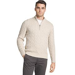Men's IZOD Regular-Fit Cable Knit Quarter-Zip Sweater