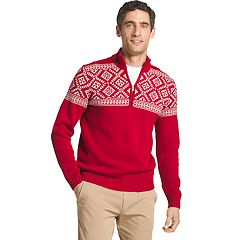 Men's IZOD Regular-Fit Fairisle Quarter-Zip Sweater