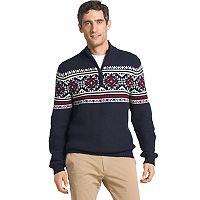 Men's IZOD Regular-Fit Fairisle Quarter-Zip Sweater