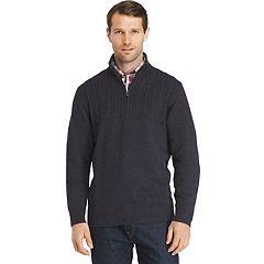 Men's IZOD Newport Regular-Fit Cable-Knit Quarter-Zip Pullover