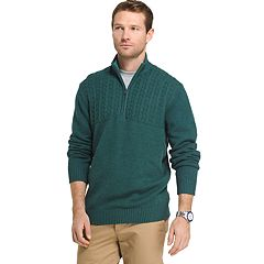 Men's IZOD Newport Regular-Fit Cable-Knit Quarter-Zip Pullover