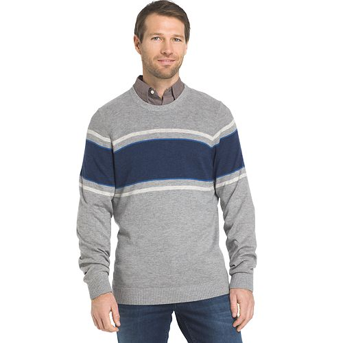 Men's IZOD Regular-Fit Striped Wool-Blend Crewneck Sweater
