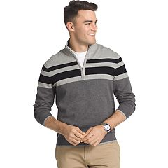 Men's IZOD Regular-Fit Striped Quarter-Zip Pullover