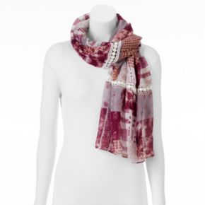 SONOMA Goods for Life? Crochet Patchwork Oblong Wrap Scarf
