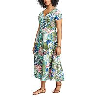 Plus Size Chaps Floral Midi Dress