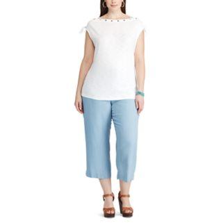 Plus Size Chaps Wide-Leg Capris