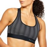 Under Armour Mid Crossback Patterned Medium-Impact Sports Bra 1309736