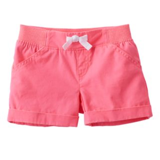 Baby Girl Jumping Beans® Solid Canvas Shorts