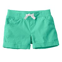 Baby Girl Jumping Beans® Canvas Shorts