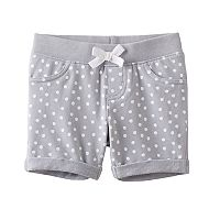 Toddler Girl Jumping Beans® Ribbed Waist Dot Jegging Shorts