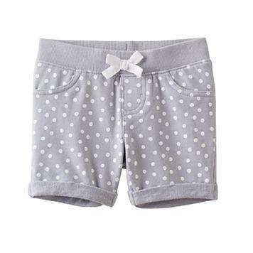 Toddler Girl Jumping Beans® Ribbed Waist Dot Jegging Shorts