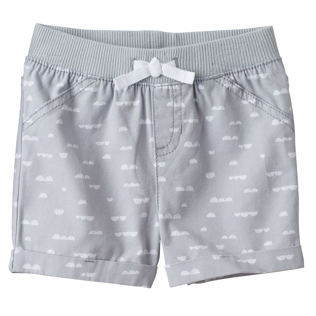 Baby Girl Jumping Beans® Geometric Print Cuffed Shorts
