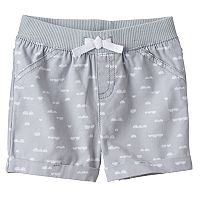 Baby Girl Jumping Beans® Geometric Print Cuffed Shorts