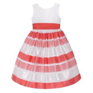 Girls 7-16 American Princess Striped Burnout Dress