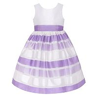 Girls 7-16 American Princess Striped Burnout Dress