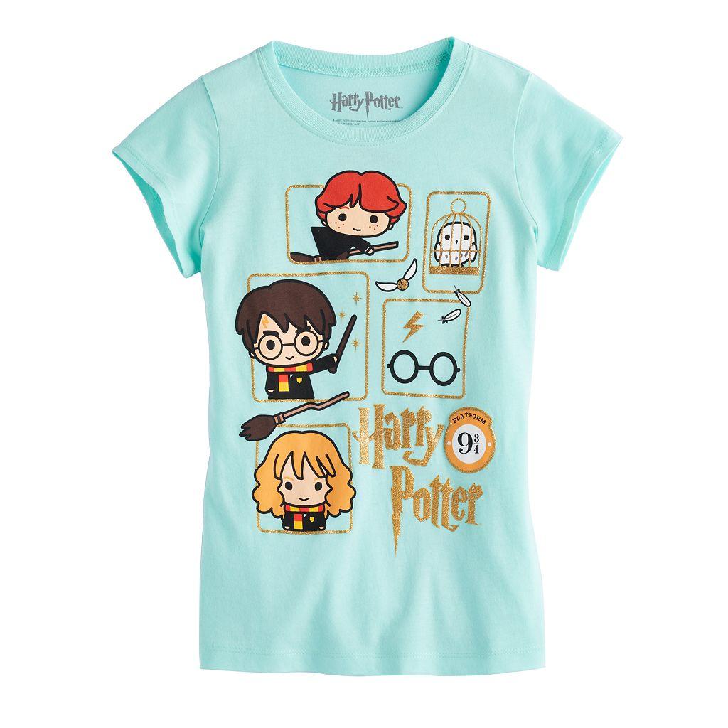 Girls 7-16 Harry Potter Harry Potter, Hermione & Ron Weasley Glitter Graphic Tee