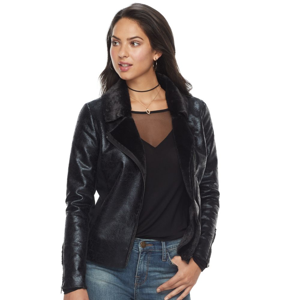 Rock & Republic® Faux Leather Moto Jacket