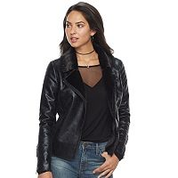 Women's Rock & Republic® Faux Leather Moto Jacket