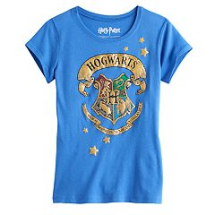 Girls 7-16 Harry Potter Hogwarts House Crest Glitter Graphic Tee