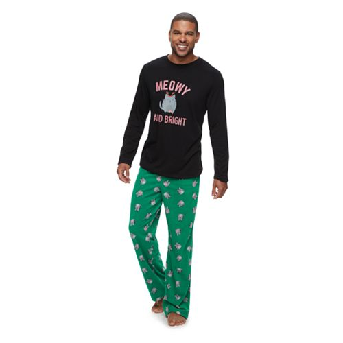 Mens Christmas Pajamas.Men S Jammies For Your Families Meowy Christmas Sleep