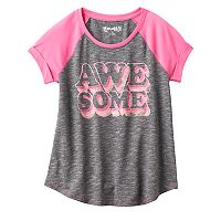 Girls Plus Size Mudd® Raglan Stitched Tee