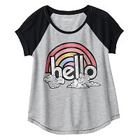 Girls Plus Size Mudd® Raglan Stitched Tee