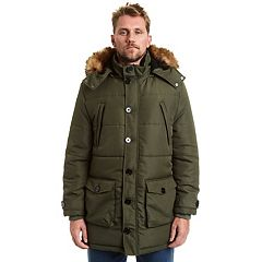 Big & Tall Excelled Faux-Fur Hooded Parka