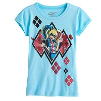 Girls 7-16 DC Comics Harley Quinn Glitter Graphic Tee