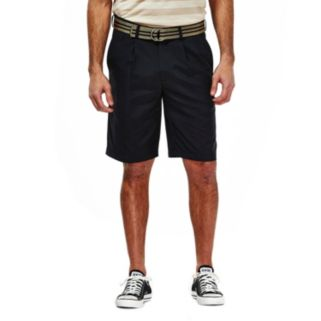 Men's Haggar Pleated Oxford Shorts