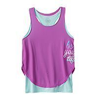 Girls 7-16 SO® Racerback Double-Layer Tank Top