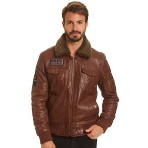 Big & Tall Excelled  Lambskin Leather A2 Flight Jacket
